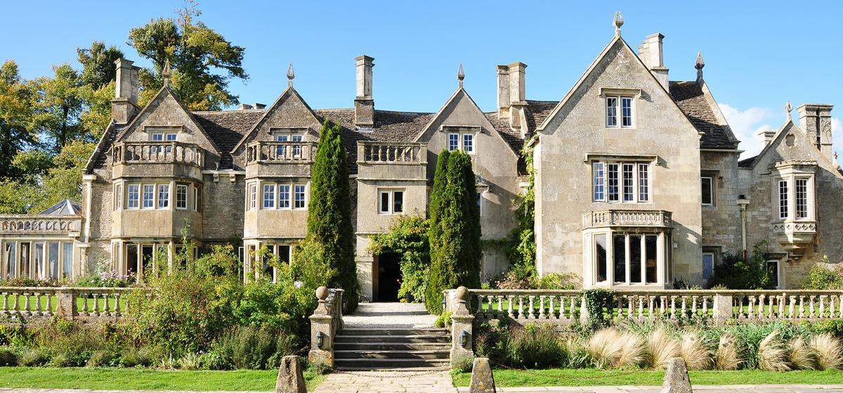 Posh estates house with sash windows